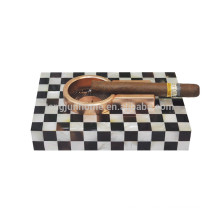 White shell cigar wooden ashtray for smoking accessories